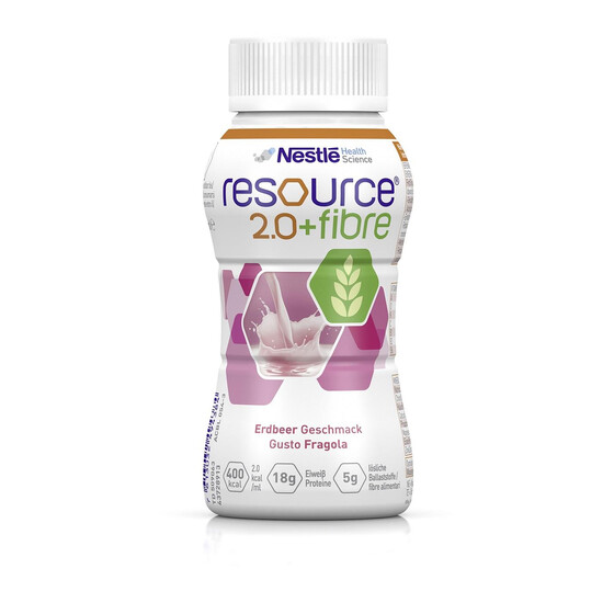 Nestle Resource 2.0 fibre, Art.Nr. 01743861, VE 4x200ml - Erdbeere