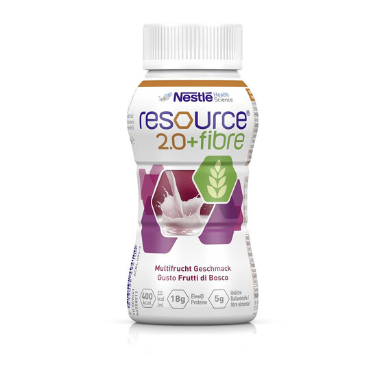 Nestle Resource 2.0 fibre, Art.Nr. 09882065, VE 4x200ml - Multifrucht